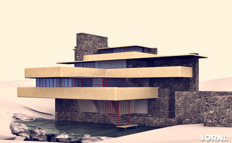 Дом над водопадом в Пенсильвании (архитектор Фрэнк Ллойд)