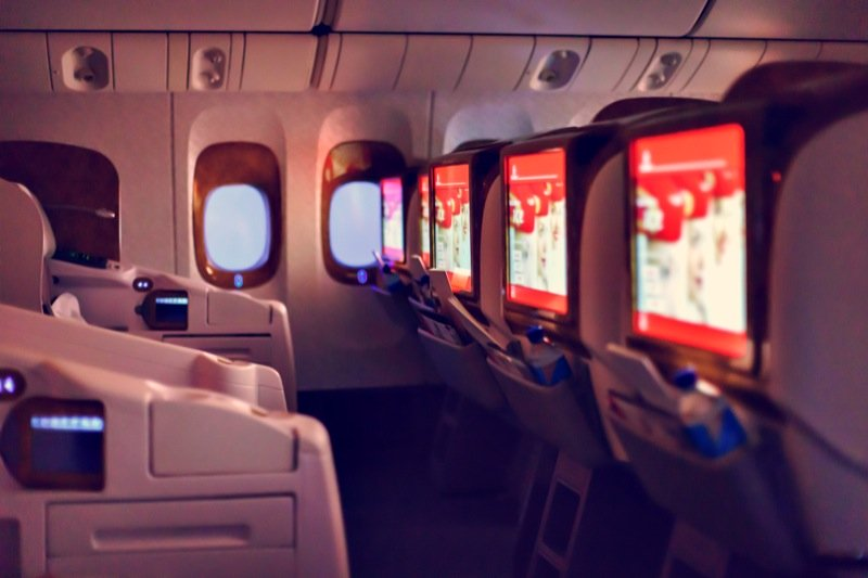 Emirates business class interior