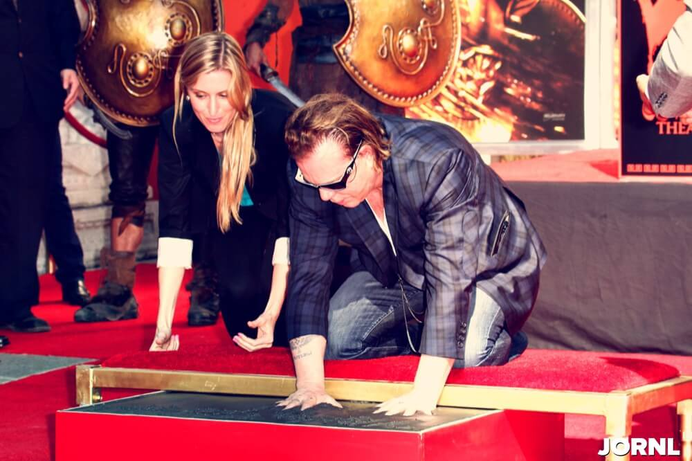 at a Hand and Foot Print Ceremony for Mickey Rourke, Chinese Theater, Hollywood, CA 10-31-11