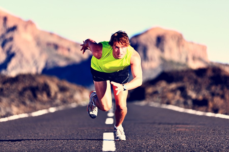 Спортсмен, бегун, спринтер